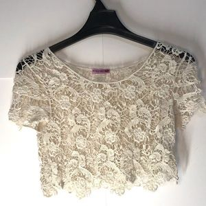 Lace Crop Top By Body Central